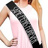 Bachelorette Black Satin Sash - Bachelorette Party Favors, Supplies, Ideas, and Decorations
