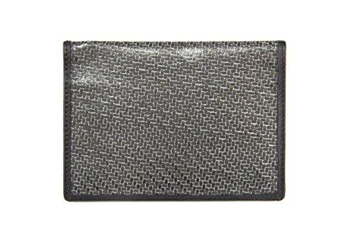 Carbon Fiber Bi-fold Passport Wallet Black with RFID (Radio Frequency Identification)