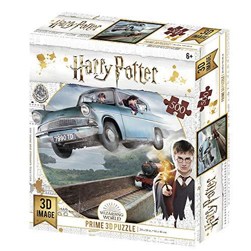 Prime 3d Redstring-Puzzle lenticulaire Harry Potter Ford Anglia 500 pièces (Effet 3D), lenticular H