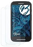 Bruni Schutzfolie kompatibel mit Motorola Moto E 1. Generation 2014 Folie, glasklare Bildschirmschutzfolie (2X)