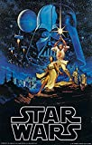 By FoveroPoster Star Wars - Episode IV New Hope - Classic Movie Poster Poster 12 x 18 Inch Poster Rolled