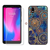 TTJ TPU Cover for ZTE Avid 579 + HD Tempered Glass, Silicone Shell Bumper Protective Back Case - 9 Hardness Anti-Scratch Screen Protector for ZTE Avid 579 (5,45') - LLM11
