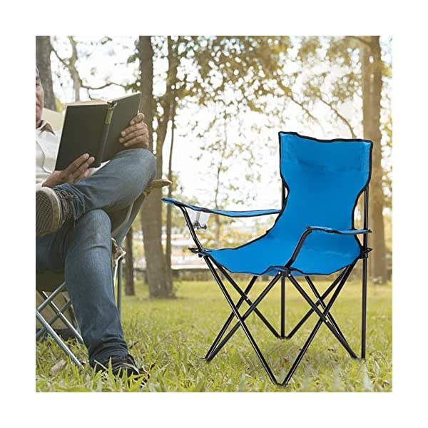Blackpoolal Folding Camping Chairs High Back, Lightweight Portable Camp Chair with Cup Holder, Armrest, Carry Bag, Beach…