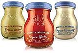Curtice Brothers Piccolo BBQ Grill Mix 6 x 65 g – Bio ketchup & Bio Mayonesa & Bio mostaza – Salsas finas para probar