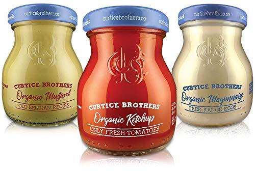 Curtice Brothers Piccolo BBQ Grill Mix 6 x 65 g - Bio Ketchup & Bio Mayonnaise & Bio Senf - feine Saucen zum Probieren