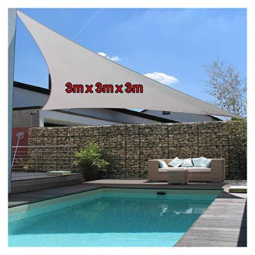 YXIUER Dreieck Sun Shelter MarkiNe Canopy Shelter Anti-UV Sonnenschirm Segel wasserdichte Zelt Tarp Tragbare Outdoor Camping Picknicktuch (Color : Gray3X3X3)