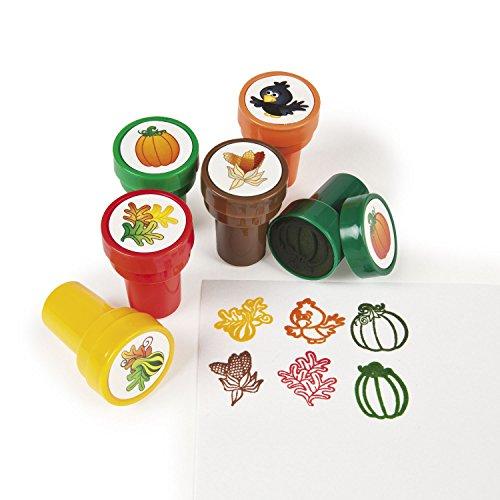 cama24com Kinderstempel Rabe Kürbis Mais und Blätter in 6 Verschiedene Motiven 6 Stück Palandi®