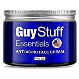 Anti Aging Face Cream for Men - Men's Facial Moisturizer - Anti Wrinkle Lotion - Clinically Proven Natural and Organic Skincare - Made in the USA by Guy Stuff Essentials