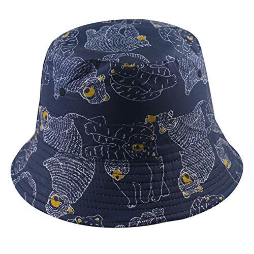 Bucket Hat Chapeau Casquettes De Panama De Mode Réversibles Motif Marine Chapeau De Pêcheur Hommes Chapeaux De Seau Ours D'Été