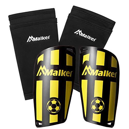 Malker Schienbeinschoner Fußball Set für Erwachsene und Jugend Kinder mit Socken Shin Guard und Leggings Kunststoff Tasche Fußball Ausrüstung Vermeidung von Verletzungen