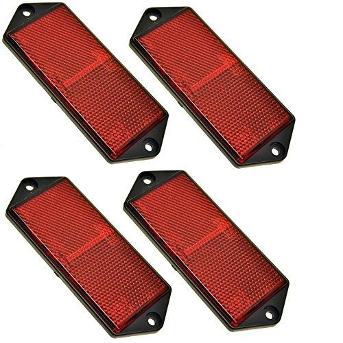 Réflecteur arrière Rectangulaire rouge Pack de 4 Clôture de remorque/Gate Poster TR073