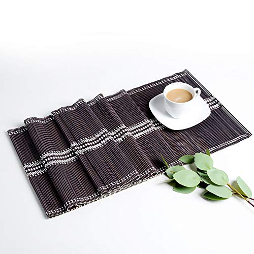 LOVECASA Bambus Tischläufer, Tischläufer abwischbar 180x30 cm, 1-teilig Tischdecke