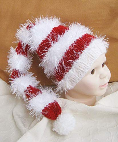 Zipfelmütze für Babys Mütze handgestrickt Nikolaus Weihnachten Foto Geschenk