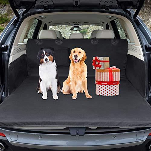 Wimypet Universeller Kofferraumschutz, Kofferraumdecke für Hunde Wasserdichter Kofferraum Hundedecke Auto Schutzdecke 2 in 1 mit Seitenschutz, für PKW-LKW Van und SUV (180x103 cm)