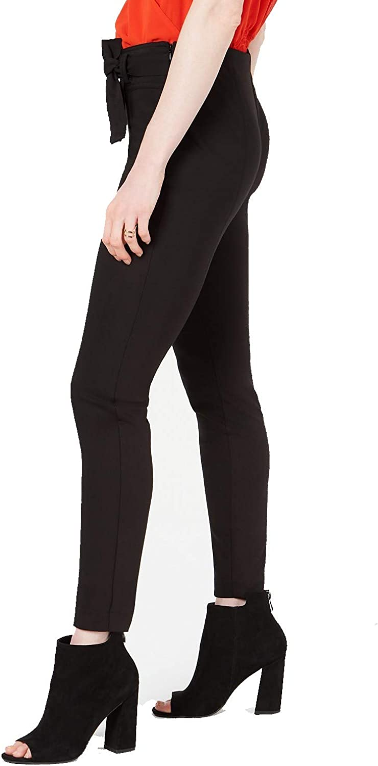 bar III Womens Tie-Front Casual Trouser Pants