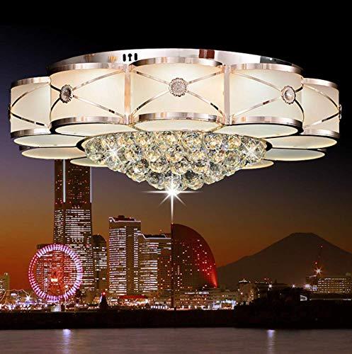 OOFAY Plafoniera LED Crystal Light E14 Sorgente Luminosa LED Patch Combinato con Tasto di Controllo Remoto Rotondo High-End Semplice Moderno 60 * 25Cm