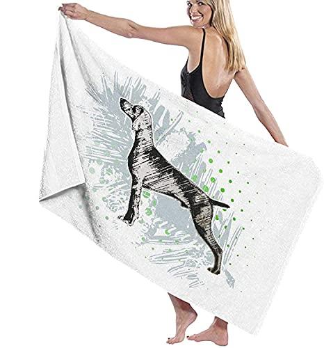 Toallas de playa, perro orgulloso, toalla de baño altamente absorbente para baño, hotel, gimnasio, spa, viajes de 52 x 32 pulgadas