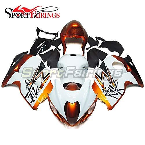 sportbikefairings Complete Fairing Kit For Suzuki GXS-R1300 GSXR-1300 Hayabusa 1997 1998 1999 2000 2001 2002 2003 2004 2005 2006 2007 Full Cover White Gold