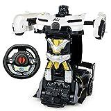 PETRLOY Transformación de dibujos animados Toy Deformación del robot de coches Niños Deformaciones Juguetes de coches mejores regalos de cumpleaños Colección Mini Robot del coche del vehículo deformad
