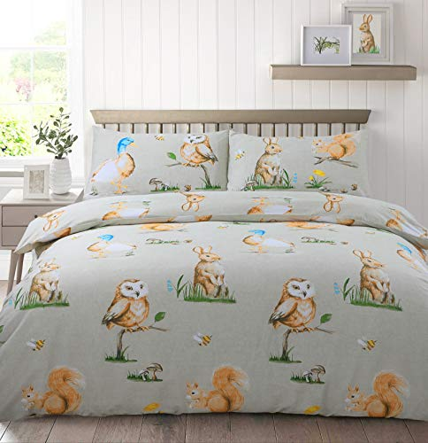 Velosso Country Animals Reversible Duvet Cover and Pillowcase(s) Bedding Set (King)