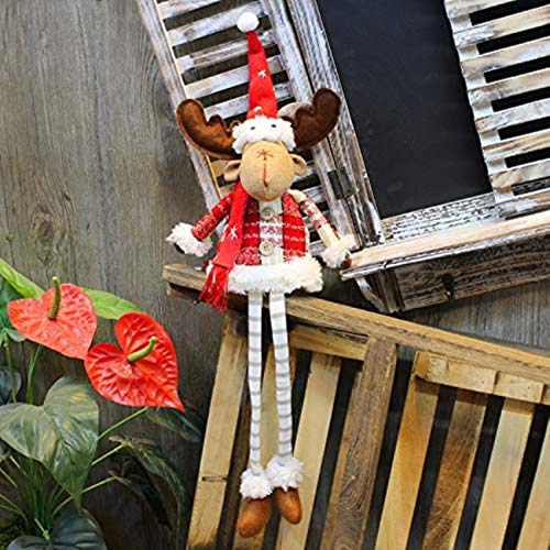 Christmas Decoration, Christmas Outdoor Decorations Santa Claus Standing Standing Figure Xmas Christmas Interior Decoration Sitting Santa Claus Presents a Christmas Doll Doll (The Deer)