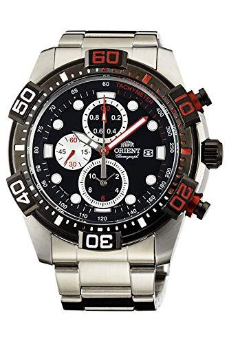 Orient Reloj Cronógrafo para Hombre de Cuarzo con Correa en Acero Inoxidable FTT16002B0