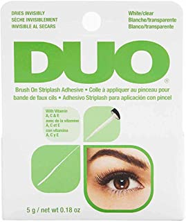 ARDELL DUO Brush lijm met vitamine A, C en E, transparante wimperlijm, extra sterke wimperlijm voor je wimperverlenging, h...