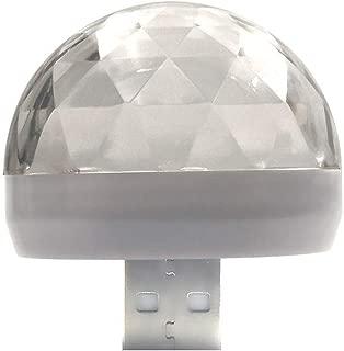 Wusad Mobile Phone USB Mini Magic Ball Light Colorful Rotating Voice Control Flashing Lights(Android)