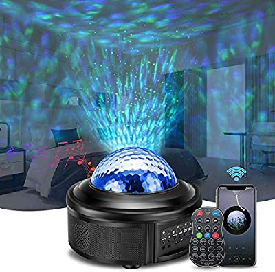 Star Projector,SOLMORE Night Light Projector Galaxy Projector with Bluetooth Music Speaker & Remote for Christmas/Party/Home Starlight Projector Led Night Lights for Bedroom Best Gift for Kids Adults