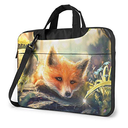 Bolsa para computadora portátil Cute Fox Laptop Shoulder Messenger Bag 13 Pulgadas a Prueba de Agua Notebook Computer Sleeve Estuche de Transporte Maletín