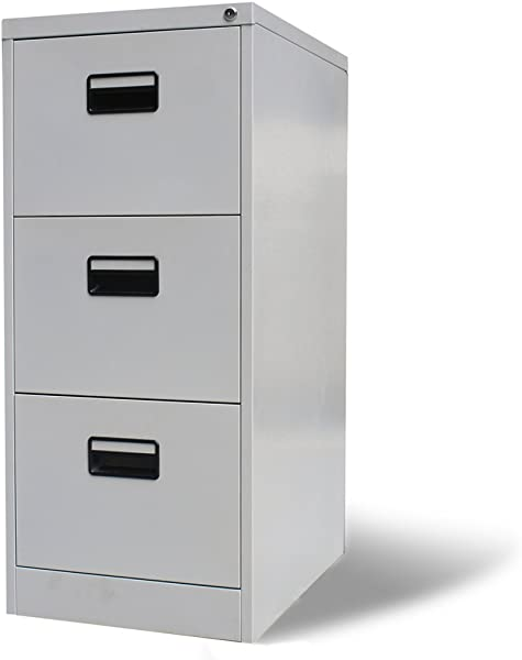 Festnight 3 Drawers Metal Hanging File Cabinet Heavy Duty Lockable Storage Letter Filing Cabinet For Office Home Furniture 18 X 25 X 40 File Cabinet