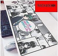 マウスパッド青春ラブストーリースピードゲーミングマウスパッド| XXLマウスパッド| 900 x 400mm大型|厚さ3mmのベース B