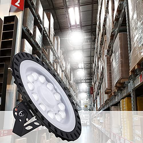 Blivrig Naves Industriales,50W Campana LED Industrial,IP65 Focos Led Interior Techo 6500K Industrial LED Iluminación Comercial para Fábricas,Aeropuerto,Patio,Restaurante(1 PACK, 50W)