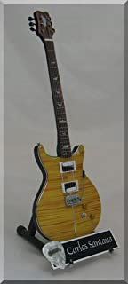 CARLOS SANTANA Guitarra miniatura con púa de guitarra PRS