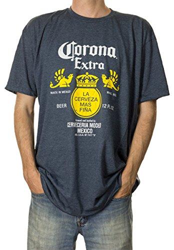 Calhoun Corona Extra-Flaschen-Aufkleber Heather T-Shirt Xx-Large