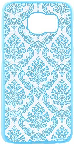 Monjour, custodia protettiva per iPhone 7 – [blu] motivo henné floreale [plastica dura] – Slim Cover Case Mandala Damascato