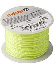Meister Metselaarsnoer neon geel - 50 m lengte - Ø 1,7 mm - gevlochten polypropyleen - knoopvast - scheurvast & belastbaar - op spoel/richtsnoer/bouwsnoer/loodsnoer/pleistersnoer / 6306520