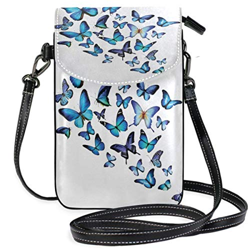 XCNGG Butterfly Cell Phone Purse Wallet for Women Girl Small Crossbody Purse Bags