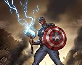SHENQI- Puzzle De 1000 Piezas para Adultos- Capitán América Sosteniendo El Cartel del Martillo De Thor -Materiales Reciclables De Primera Calidad Y Rompecabezas De Impresión De Alta Definición