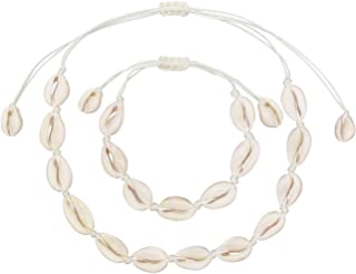Natural Sea Shell Beads Handmade Hawaii Wakiki Beach Choker Necklace Adjustable Bracelet Anklet for Girls Ladies