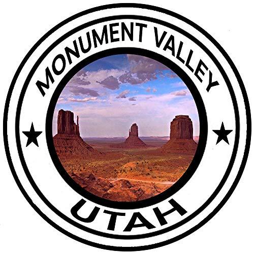 Best Monument Valley Round Sticker Auto Decal Car Truck Window Travel Utah 4 Inch In Width
