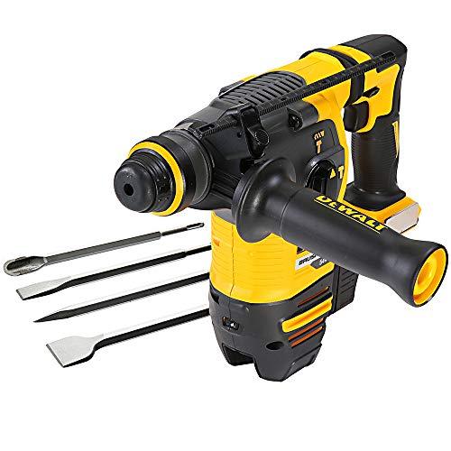Dewalt DCH333 54V Flexvolt XR Brushless SDS+ Hammer Drill with 4 Pc Chisel Set
