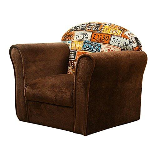 LNNZPL Infantil pequeño sofá sofá Perezoso Simple Asiento Moderna habitación de los niños de Lectura cómodo Taburete Luz Mini Sofá sofá Perezoso (Color : #4)