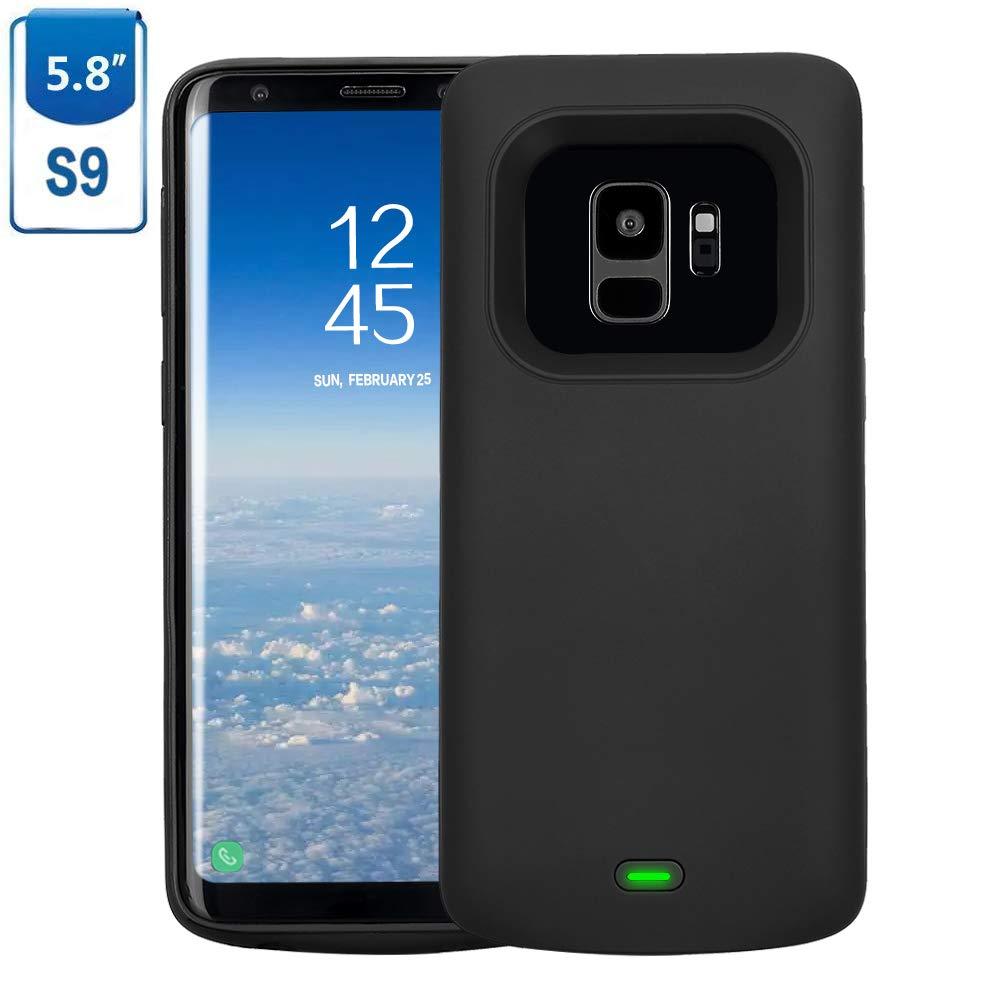 Mbuynow Samsung Galaxy S9 Funda Batería, 4700 mAh Recargable Externa Portátil Batería Cargador de Batería Power Bank Alta Capacidad Backup Funda de Batería para Samsung Galaxy S9: Amazon.es: Electrónica