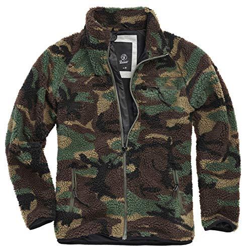 Brandit Teddyfleece Jacket, Woodland camo, Größe XXL