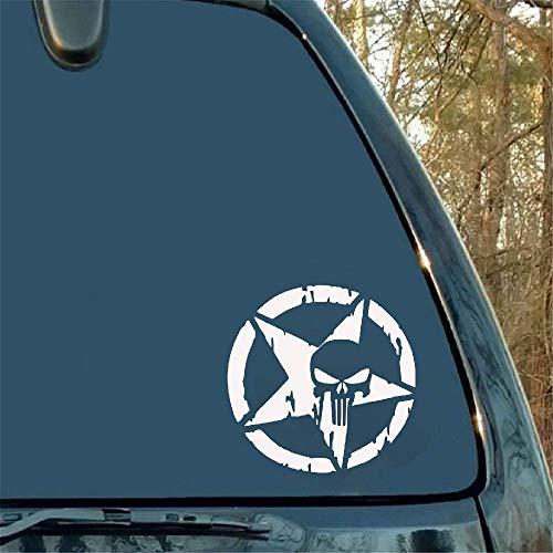 13 * 13cm voor Punisher Skull logo autosticker vinyl sticker motorfiets accessoires spatbord accessoires voor Bmw Dodge Skoda Citroen