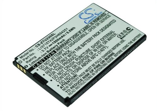 CS Akku 1500mAh 5.5Wh 3.7V passend für Cricket Groove, X501 / Telstra VF945, ELITE MOBILE WI-FI, U722, U235, U700, U720, U235B, U600, U900, U215, R750, U232, X920, X925, MF30, AC30, A6, MF30 A6 WiFi Router, U728, U862, D800, D810 / T-Mobile 4G Mobile Hotspot / Verizon FiveSpot, Fivespot Wireless Modem / Vodafone VF945, 945 / ZTE Joe, VF945, MF60, MF61, U750, U960S, V960, N960, V859 MKN, Racer II, Arizona, P728B, Groove, X501, F165, U728, U862, D800, D810, U722, U235, U700, U720, U235B, U600, U900, U215, R750, U232, X920, X925, MF30, AC30, A6, MF30 A6 WiFi Router // ersetzt Telstra LI3715T42P3H654251, Li3711T42P3h654246 / Verizon VZWAC30BAT / Vodafone LI3715T42P3H654251, Li3711T42P3h654246 / ZTE Li3711T42P3h354246