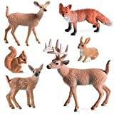 Skylety 6 Pieces Forest Animals Figures...