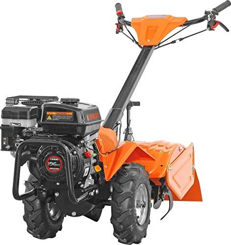 motozappa motocoltivatore con ruote 196 cc - larghezza 46 cm -6,5 CV- motore Loncin con marcia avanti e indietro - kibani