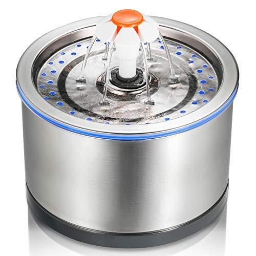 iPettie Cat Water Fountain Stainless Steel,...